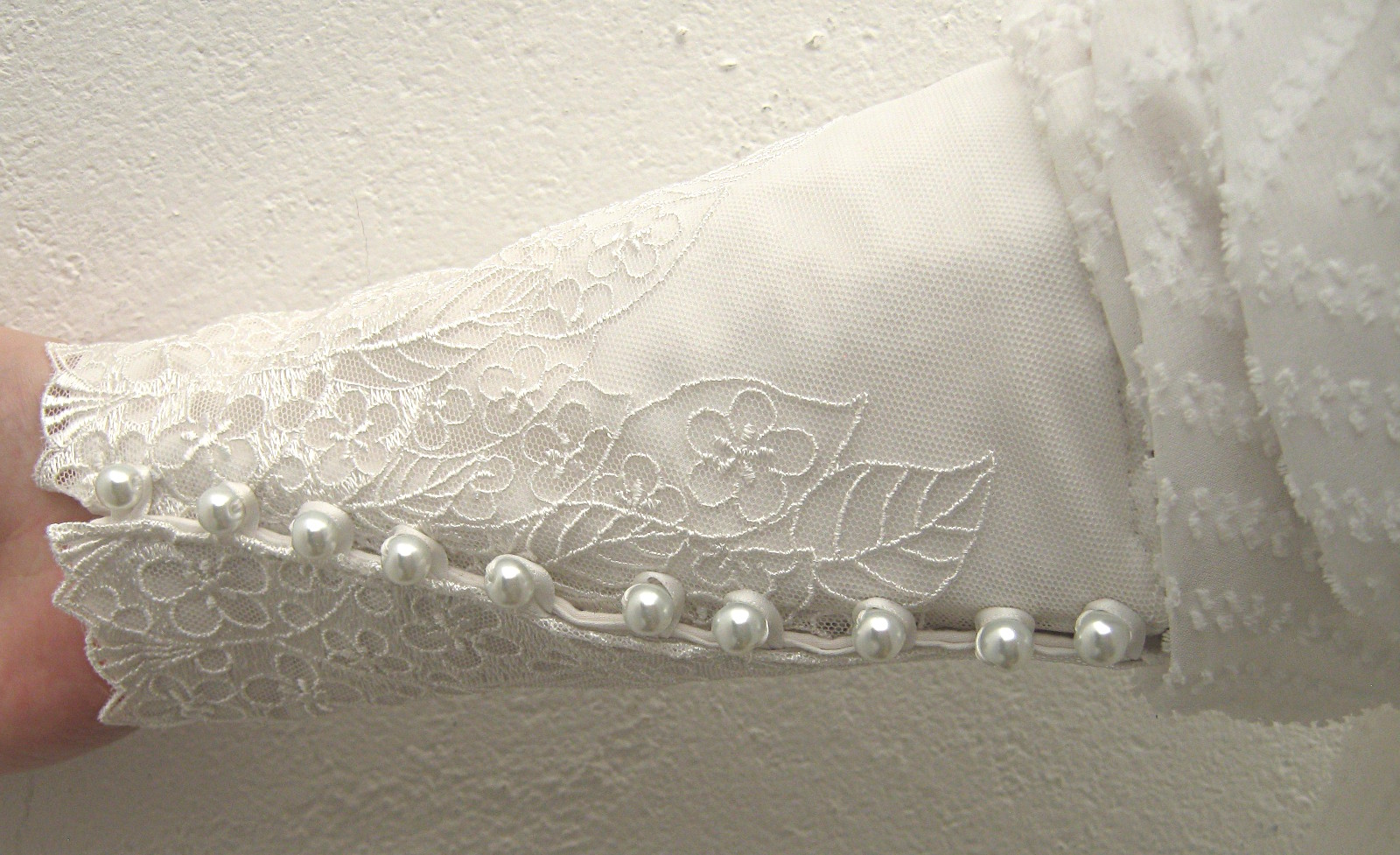 White-sheer-zigzag-stripe-blouse-Victorian-style-lace-trim-cuff-detail