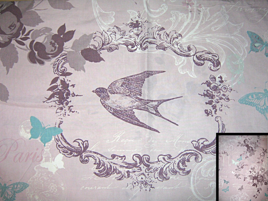 Pale-pink-purple-white-floral-birds-butterflies-text-polycotton