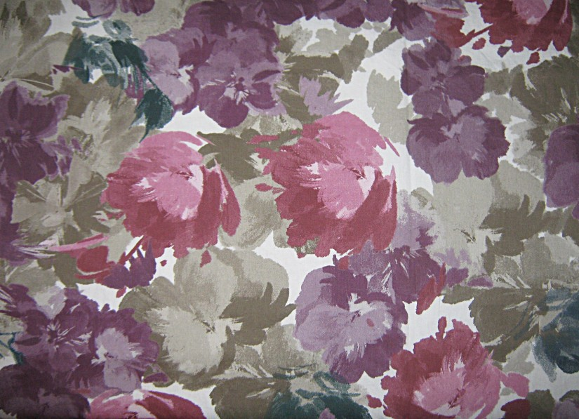 Pink-purple-green-floral-cotton