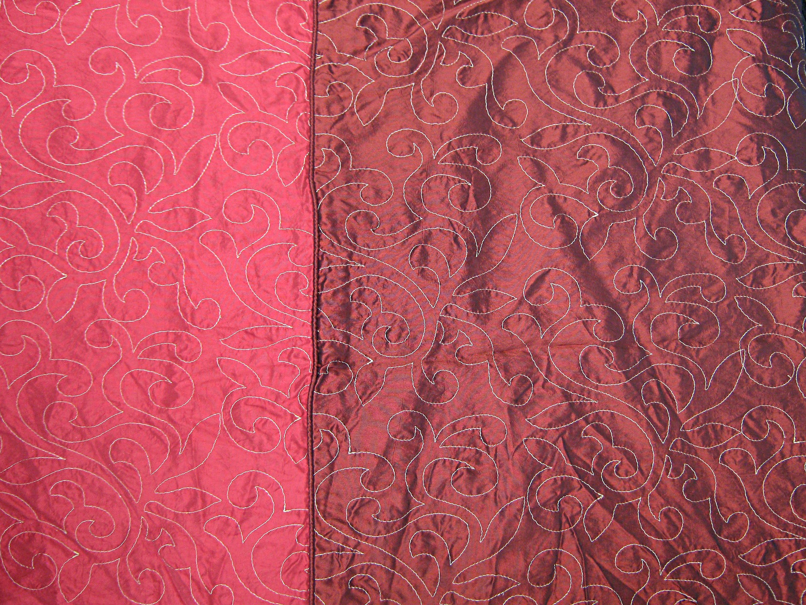 Red-and-black-shot-red-satin-2-shade-gold-abstract-floral-embroidered
