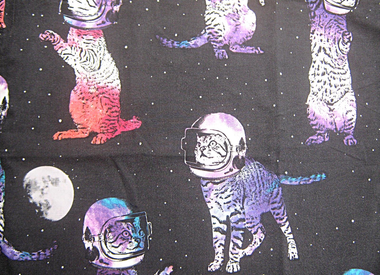 Black-purple-red-blue-space-cats-polycotton